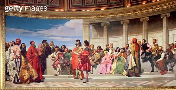 <b>Title</b> : Hemicycle:<br><b>Medium</b> : fresco<br><b>Location</b> : Ecole Nationale Superieure des Beaux-Arts, Paris, France<br> - gettyimageskorea