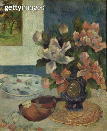 <b>Title</b> : Still Life with a Mandolin, 1885 (oil on canvas)<br><b>Medium</b> : oil on canvas<br><b>Location</b> : Musee d'Orsay, Paris, France<br> - gettyimageskorea