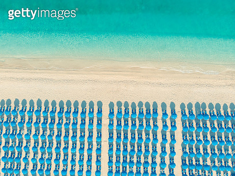 Aerial view of the beach,Ionian Islands, Greece - gettyimageskorea