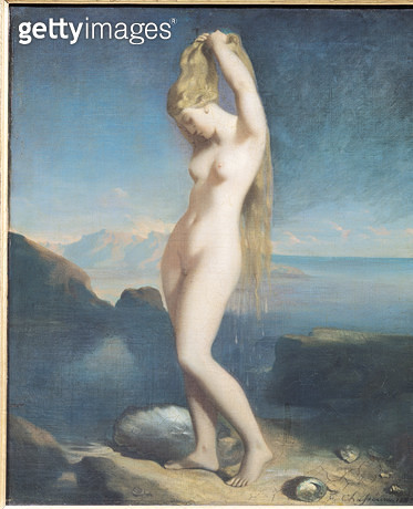 <b>Title</b> : Venus Anadyomene, or Venus of the Sea, 1838 (oil on canvas)<br><b>Medium</b> : oil on canvas<br><b>Location</b> : Louvre, Paris, France<br> - gettyimageskorea