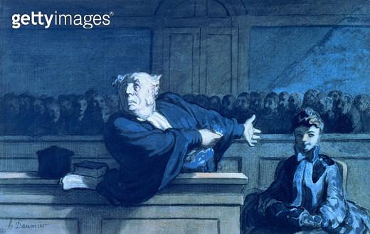<b>Title</b> : Scene at a tribunal (w/c)<br><b>Medium</b> : <br><b>Location</b> : Private Collection<br> - gettyimageskorea