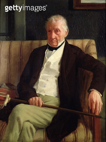 <b>Title</b> : Portrait of Hilaire Degas (1770-1858), grandfather of the artist, 1857 (oil on canvas)<br><b>Medium</b> : oil on canvas<br><b>Location</b> : Musee d'Orsay, Paris, France<br> - gettyimageskorea