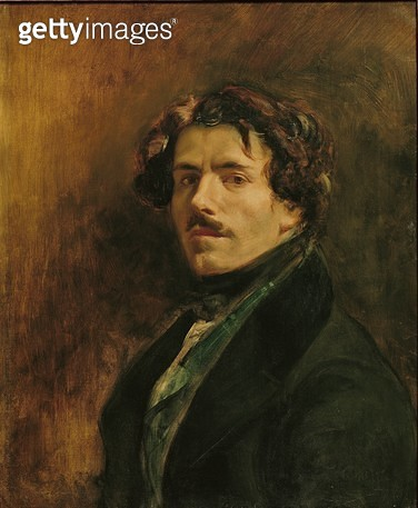 <b>Title</b> : Self Portrait, c.1837 (oil on canvas)<br><b>Medium</b> : oil on canvas<br><b>Location</b> : Louvre, Paris, France<br> - gettyimageskorea