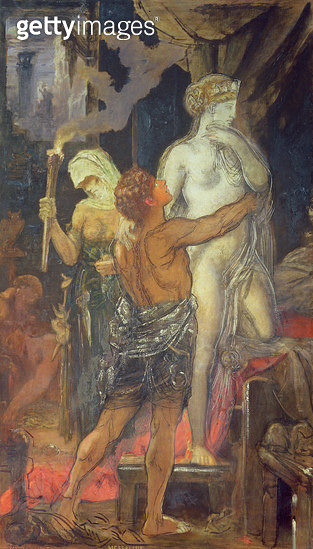 <b>Title</b> : The Execution of Messalina, 1874<br><b>Medium</b> : oil on canvas<br><b>Location</b> : Musee Gustave Moreau, Paris, France<br> - gettyimageskorea