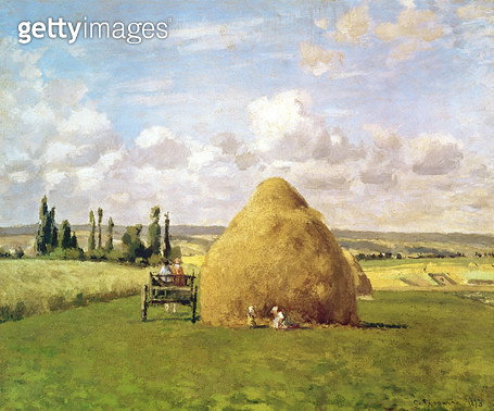 <b>Title</b> : The haystack, Pontoise, 1873<br><b>Medium</b> : <br><b>Location</b> : Private Collection<br> - gettyimageskorea