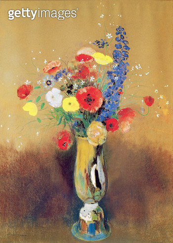 <b>Title</b> : Wild flowers in a Long-necked Vase, c.1912 (pastel on paper)Additional InfoBouquet de fleurs de champ dans un vase a long col;<br><b>Medium</b> : pastel on paper<br><b>Location</b> : Musee d'Orsay, Paris, France<br> - gettyimageskorea