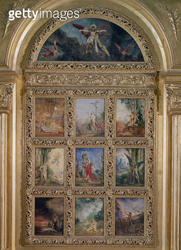 <b>Title</b> : Humanity: The Golden Age depicting three scenes from the lives of Adam and Eve; The Silver Age depicting three scenes from Orphe<br><b>Medium</b> : <br><b>Location</b> : Musee Gustave Moreau, Paris, France<br> - gettyimageskorea