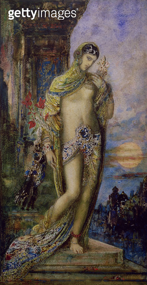 <b>Title</b> : The Song of Songs: the Shulammite maiden (w/c) (for detail see 83721)<br><b>Medium</b> : watercolour on paper<br><b>Location</b> : Private Collection<br> - gettyimageskorea