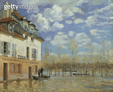 The boat in the flood, Port-Marly, 1876 - gettyimageskorea