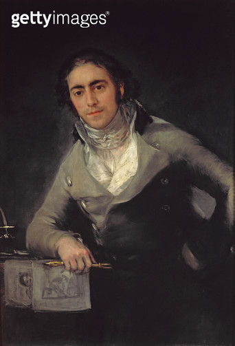 <b>Title</b> : Portrait of a man presumed to be Don Evaristo Perez de Castro<br><b>Medium</b> : oil on canvas<br><b>Location</b> : Louvre, Paris, France<br> - gettyimageskorea