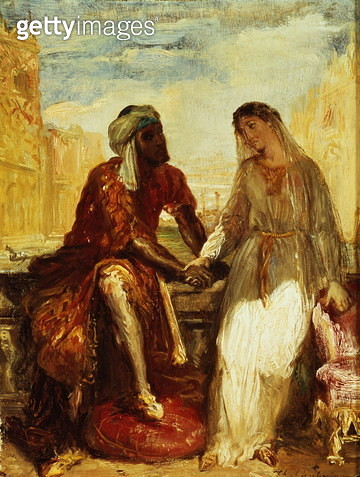 Othello and Desdemona in Venice, 1850 (panel) - gettyimageskorea