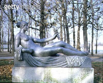 <b>Title</b> : Monument to Paul Cezanne by Aristide Maillol (1861-1944), c.1912 (bronze)<br><b>Medium</b> : bronze<br><b>Location</b> : Jardin des Tuileries, Paris, France<br> - gettyimageskorea