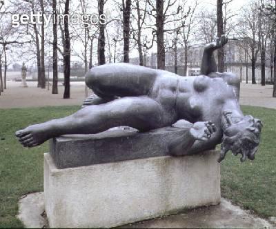 <b>Title</b> : Venus or The River, part of a monument to Paul Cezanne by Aristide Maillol (1861-1944) (bronze)<br><b>Medium</b> : bronze<br><b>Location</b> : Jardin des Tuileries, Paris, France<br> - gettyimageskorea