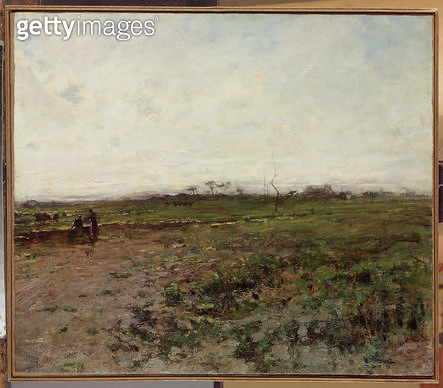 Landscape with a Peasant Woman/ early 1870s (oil on canvas) - gettyimageskorea