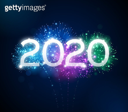 Happy New Year 2020 fireworks background concept. - gettyimageskorea