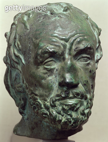 <b>Title</b> : Man with a Broken Nose, 1863-64 (bronze)<br><b>Medium</b> : <br><b>Location</b> : Hermitage, St. Petersburg, Russia<br> - gettyimageskorea