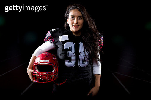 Mujer football americano - gettyimageskorea