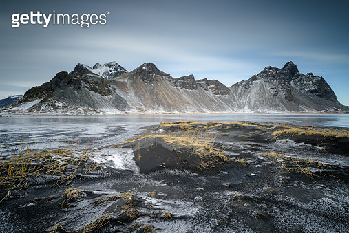 Amazing Landscape and Nature of Vestrahorn mountain at Stokksness peninsula, Iceland - gettyimageskorea