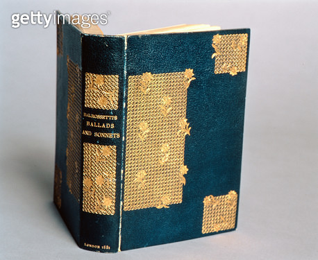 <b>Title</b> : Cover of 'Ballads and Sonnets' by Dante Gabriel Rossetti (1828-82), published 1881 (leather bound book)<br><b>Medium</b> : leather bound book<br><b>Location</b> : Delaware Art Museum, Wilmington, USA<br> - gettyimageskorea