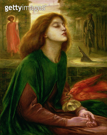 <b>Title</b> : Copy of Beata Beatrix by Dante Gabriel Rossetti (1828-82), c.1900-10 (oil on canvas)Additional Infopainted as a memorial to Ross<br><b>Medium</b> : oil on canvas<br><b>Location</b> : Delaware Art Museum, Wilmington, USA<br> - gettyimageskorea