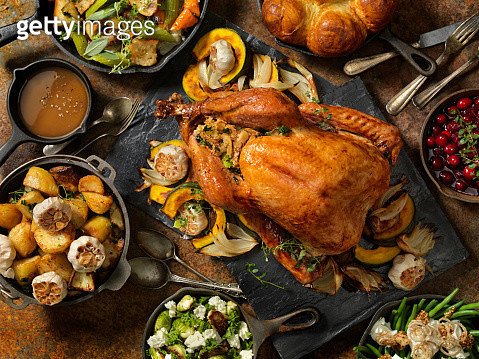 Roast Turkey Dinner - gettyimageskorea