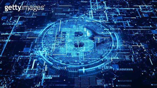 Digital Composite Image Of Bitcoin - gettyimageskorea