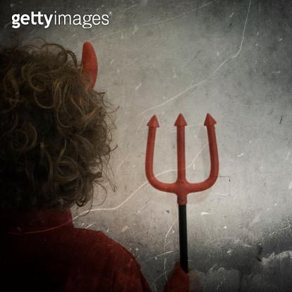 Devil child in Halloween - gettyimageskorea
