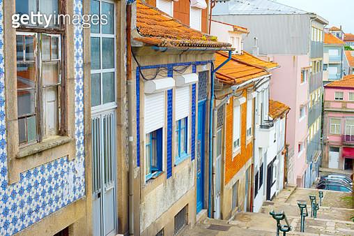 Porto Traditional Tiled Street, Portugal - gettyimageskorea