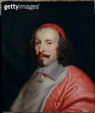 <b>Title</b> : Portrait of Cardinal Jules Mazarin (1602-61)<br><b>Medium</b> : oil on canvas<br><b>Location</b> : Private Collection<br> - gettyimageskorea