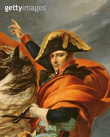 <b>Title</b> : Napoleon Crossing the Alps on 20th May 1800, 1803 (oil on canvas) (detail of 101627)<br><b>Medium</b> : oil on canvas<br><b>Location</b> : Chateau de Versailles, France<br> - gettyimageskorea
