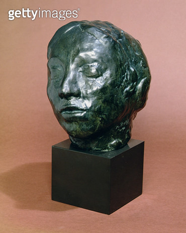 <b>Title</b> : Head of Gwen John (1876-1939) (Head of Whistler's Muse) (bronze)Additional Infomodern cast of head for 'Muse for the Monument to<br><b>Medium</b> : bronze<br><b>Location</b> : National Museum and Gallery of Wales, Cardiff<br> - gettyimageskorea
