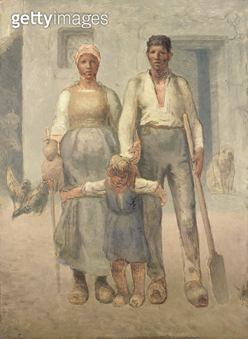 <b>Title</b> : The Peasant Family, 1871-72 (oil on canvas)<br><b>Medium</b> : oil on canvas<br><b>Location</b> : National Museum and Gallery of Wales, Cardiff<br> - gettyimageskorea