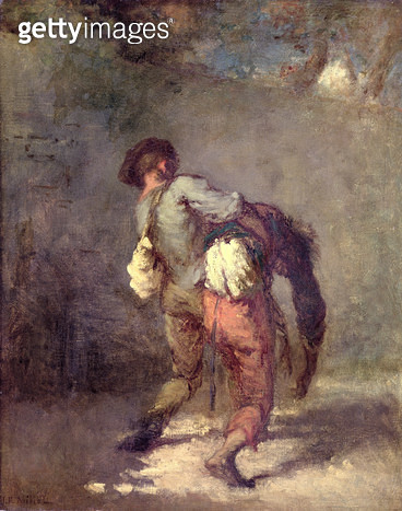 <b>Title</b> : The Good Samaritan, 1846 (oil on canvas)<br><b>Medium</b> : oil on canvas<br><b>Location</b> : National Museum and Gallery of Wales, Cardiff<br> - gettyimageskorea