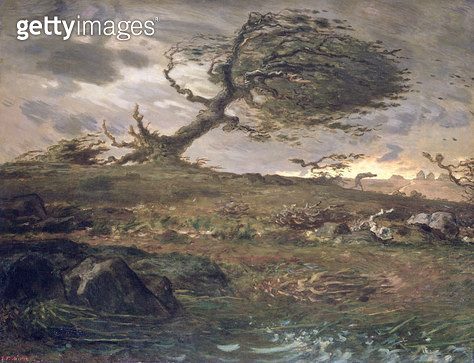 <b>Title</b> : The Gust of Wind, 1871-73 (oil on canvas)<br><b>Medium</b> : oil on canvas<br><b>Location</b> : National Museum and Gallery of Wales, Cardiff<br> - gettyimageskorea