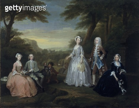<b>Title</b> : The Jones Family Conversation Piece, 1730 (oil on canvas)<br><b>Medium</b> : oil on canvas<br><b>Location</b> : National Museum and Gallery of Wales, Cardiff<br> - gettyimageskorea