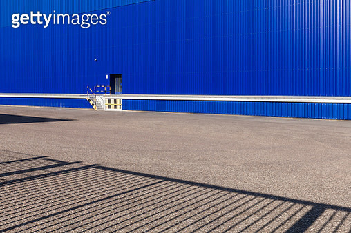 Blue storehouse, partial view - gettyimageskorea