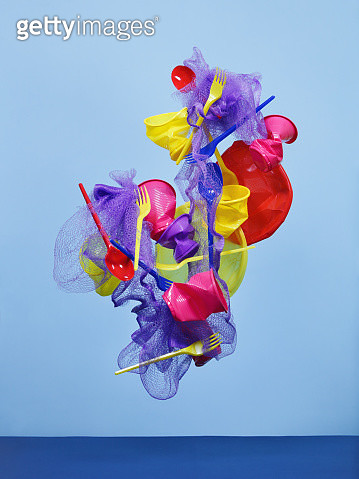 Multi-colored plastic objects - gettyimageskorea