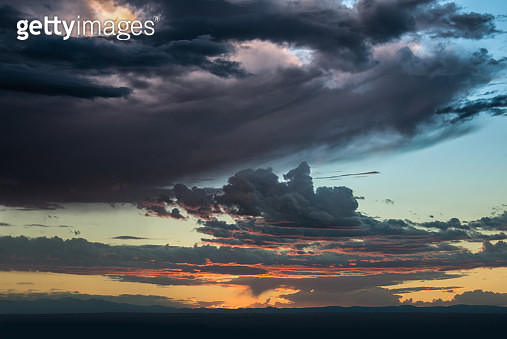 Beutiful sunset sky and clouds over the horizon - gettyimageskorea