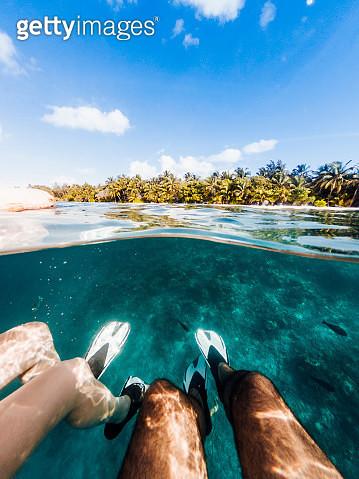 Snorkeling in Maldives sea - gettyimageskorea