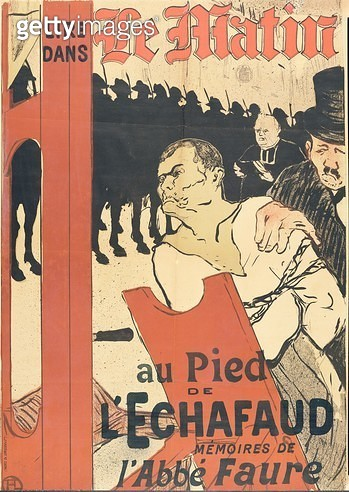 <b>Title</b> : At the Foot of the Gallows, advertisement for 'Le Matin', 1893 (colour litho)<br><b>Medium</b> : colour lithograph<br><b>Location</b> : San Diego Museum of Art, USA<br> - gettyimageskorea