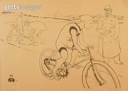 <b>Title</b> : The Cyclist Michael, 1896 (litho)<br><b>Medium</b> : lithograph<br><b>Location</b> : San Diego Museum of Art, USA<br> - gettyimageskorea
