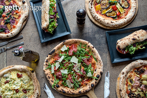 Rustic Italian Pizza and Bread - gettyimageskorea