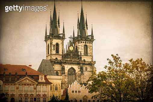 Church of Our Lady before Tyn in Old Town, Prague - gettyimageskorea