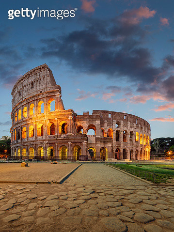 Colosseum in the evening - gettyimageskorea