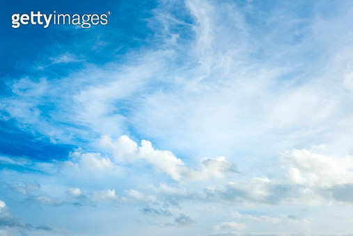 Blue sky with clouds - gettyimageskorea