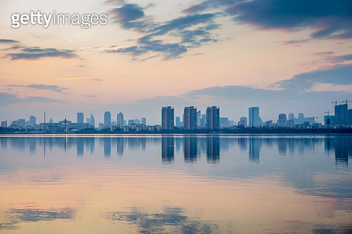 City park sunset - gettyimageskorea