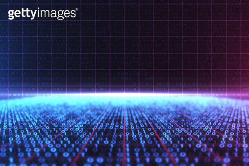 3D illustration Rendering of binary code pattern Abstract background.Futuristic Particles for business,Science and technology background - gettyimageskorea