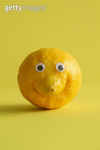 Lemon with googly eyes - gettyimageskorea