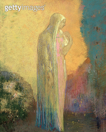 <b>Title</b> : Standing Veiled Woman (pastel on paper)<br><b>Medium</b> : pastel on paper<br><b>Location</b> : Musee d'Orsay, Paris, France<br> - gettyimageskorea
