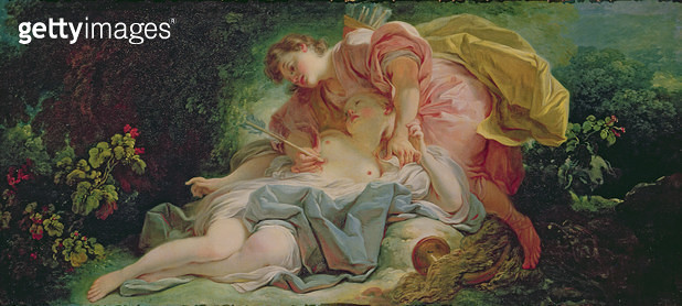 <b>Title</b> : Cephalus and Procris (oil on canvas)<br><b>Medium</b> : oil on canvas<br><b>Location</b> : Musee des Beaux-Arts, Angers, France<br> - gettyimageskorea